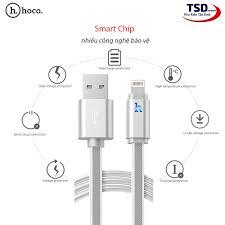 Cáp sạc nhanh iPhone Hoco UPL12 2M 2.4A Có Đèn Led Báo Pin Đầy tự ngắt chính  hãng [BH: 6 tháng] tms59#1C2,2 (jkla)