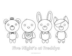 Five Nights At Freddys Coloring Pages Printable Five Nights At