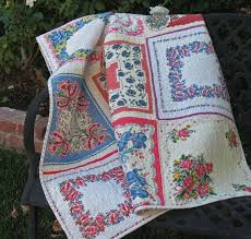Dishfunctional Designs: Vintage Handkerchiefs & Scarves Upcycled ... & Quilt by Mary McCulty's design shop via Etsy Adamdwight.com