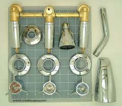tub and shower faucets with three handles