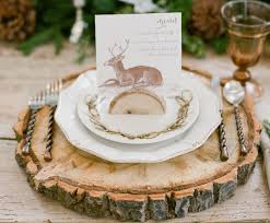 Rustic Winter Place Setting - I really like the place card holder.