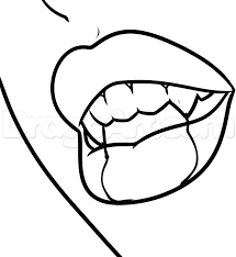 how to draw a vire mouth step 7
