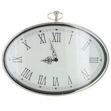 chrome pocket watch style wall clock