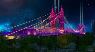 Cincinnati Light Show October 2017 Historic Roebling Bridge Will Be Part Of Iconic Blink Light