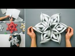 How To Make A 3d Snowflake 3d Snowflake Diy Tutorial How To Make 3d Paper Snowflakes For Homemade Decorations 2016 Xmas