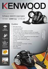Kenwood VC-7050 2200 Watt Toz Torbasız Elektrikli Süpürge Fiyatı