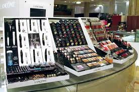 makeup and cosmetics display for lane