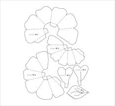 Free Paper Flower Templates Printable 20 Flower Petal Templates Pdf Vector Eps Free Premium Templates