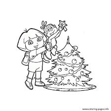Dora Christmas Coloring Pages Printable