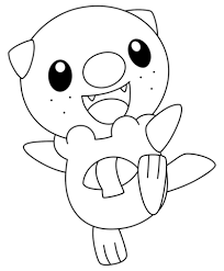 Small Picture Oshawott Pokemon coloring page Free Printable Coloring Pages