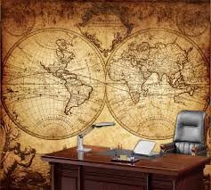 world map wall mural vintage old of the by styleawall for fabric