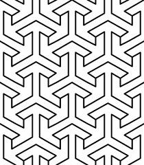 Arabic Pattern Seamless Geometric Arabic Pattern Royalty Free Vector Graphics