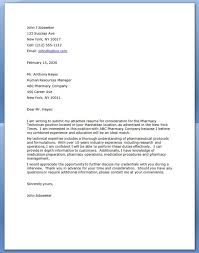 Pharmacy Technician Cover Letter Template Cover Letter Examples