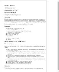 Engineering Cover Letter Impressive Electrical Engineering Internship Cover Letter With No Experience