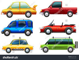 Illustration Different Types Cars On White Stock Vector 202673785 ...
