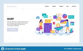 Web Designer Salary Vector Web Site Design Template Employee Salary And Payroll
