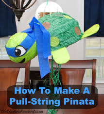 this is why i like to turn regular pinatas into pull string pinatas it is actually very easy and can be done to any pinata