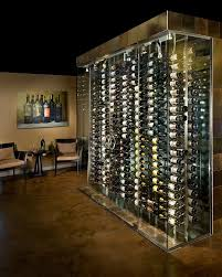 Modern and custom wine cellar design