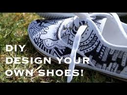 Diy shoes designs Easy Youtube Diy Canvas Shoes Youtube