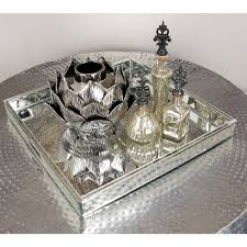 Decorative Glass Trays 100 In X 100 In Modern SilverFinished Decorative Mirror Tray100 20