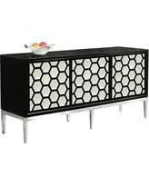 Black laquer furniture Ancient Japanese Impactrad Meridian Furniture Zoey Sideboardbuffet Black Lacquer Luxury Busla Black Lacquer Dining Room Furniture Deals At Shop Better Homes
