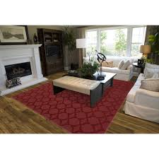 Red Living Room Rug Garland Rug Chili Red Sparta Area Rug Reviews Wayfair