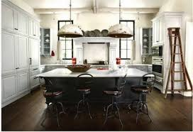 rustic french country kitchens. Contemporary Kitchens Alluring Double Eggs Pendant Lamps In Chrome Over Large Kitchen Island With  Rustic Iron Stools As Well White Cabinetry Kitche Storage French  For Country Kitchens