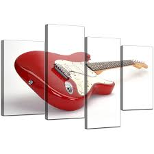 display gallery item 5 four part set of modern red canvas wall art display gallery item 6 on guitar canvas wall art red with electric guitar canvas wall art in red for bedroom