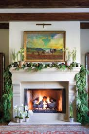 Fireplace Chic Decorating Mantels For Christmas Ideas With String Christmas Fireplace Mantel