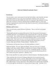 gifted and talented exceptionality report educ230 ashley schirmer    Intellectual Giftedness   Gifted Education