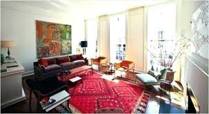 living room with persian rug red rug living room oriental rug with modern furnishings and white walls love it a living red rug living room