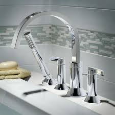 bathtub faucet with hand shower tub fillers deck mount bathtub faucet with lever handles polished chrome bathtub faucet with hand shower