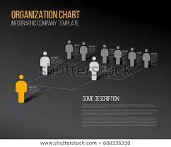 Minimalist Dark Company Organization Hierarchy 3d Chart