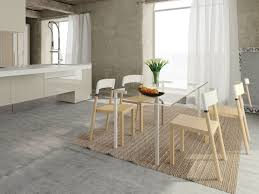 axys glass rectangular dining table
