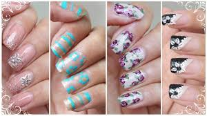 Flower Nails: 4 WAYS | NO Nail Art Tools Needed!! - Nail Art ...