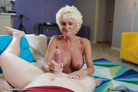 Wild XXX Hardcore Mom Stroking Cock