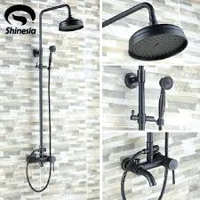 oil rubbed bronze shower luxury oil rubbed bronze bathroom 8 rain shower faucet set wall mounted oil rubbed bronze shower