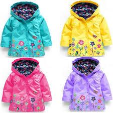 <b>Children Raincoat</b> Loose Coat <b>Boy Girl</b> Clothes Flower Windbreak ...
