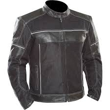 alonso leather mesh hybrid motorcycle jacket front right side