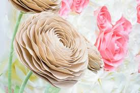 Made Flower With Paper Large Giant Paper Flowers Big Pink White Beige Rose Peony