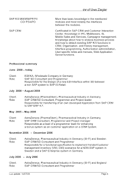 Sap Crm Functional Consultant Sample Resume