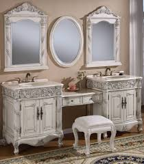 retro bathroom renovation vanity cabinets with makeup table