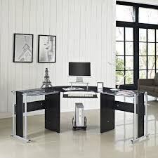 glass home office desks. Trendy Glass Home Office Desk 1 Admirable Contemporary Desks Gorgeous