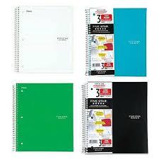 Five Star Graph Paper Notebook 2 Pack Five Star Spiral Notebook Graph Ruled 1 Subject 85 X