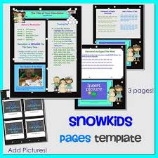 newsletter template for pages snow kids theme newsletter template for ipads iphones macs