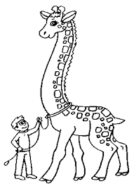 Giraffe Obedient Coloring Page Printable Boys And Animals Best