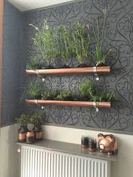 Garden Design Spray Paint Indoor Vertical Herb Garden Pvc Gutter And Copper Spray