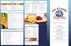 Mid Atlantic Seafood menu in District ...