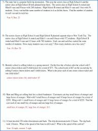 linear equations word problems worksheet with answers worksheets for all and solving systems of pdf
