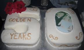 50th Anniversary Cakes Pictures Ideas